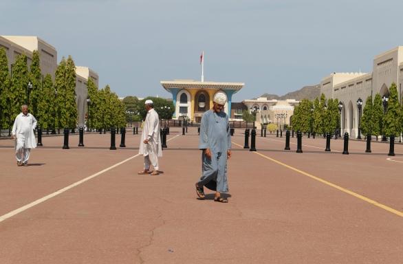 Het Al Alam-paleis (Vlagpaleis) is het ceremoniële paleis van Sultan Qaboos en ligt in het hart van Oud-Muscat.